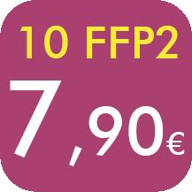 10 FFP2 POR 7,90 EUROS