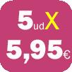 5 FFP2 POR 5,95 EUROS