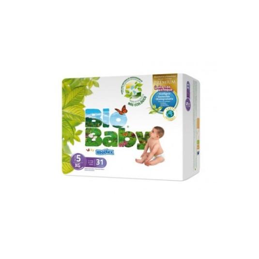 bio baby pañales ecologicos talla 5 (12-16kg) 31uds