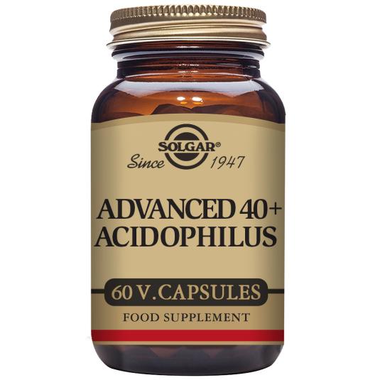 SOLGAR 40+ ACIDOPHILUS AVANZADO 60 CÁPSULAS