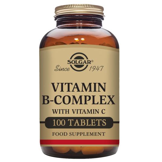 SOLGAR VITAMINA B-COMPLEX CON VITAMINA C 100 COMPRIMIDOS