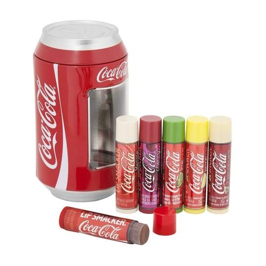 lip smacker balsamo labial cocacola lata vintage pack 6 unidades