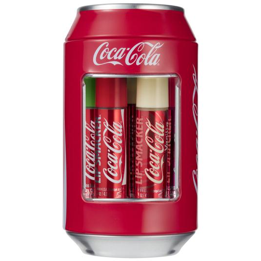 lip smacker bálsamo labial cocacola lata vintage pack 6 unidades