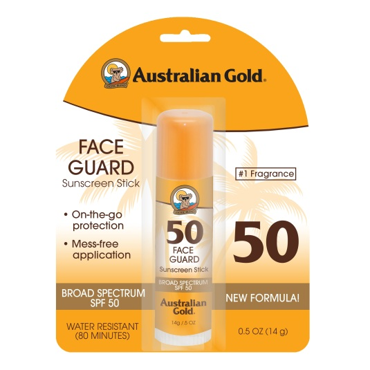 australian gold face guard sunscreen stick spf50
