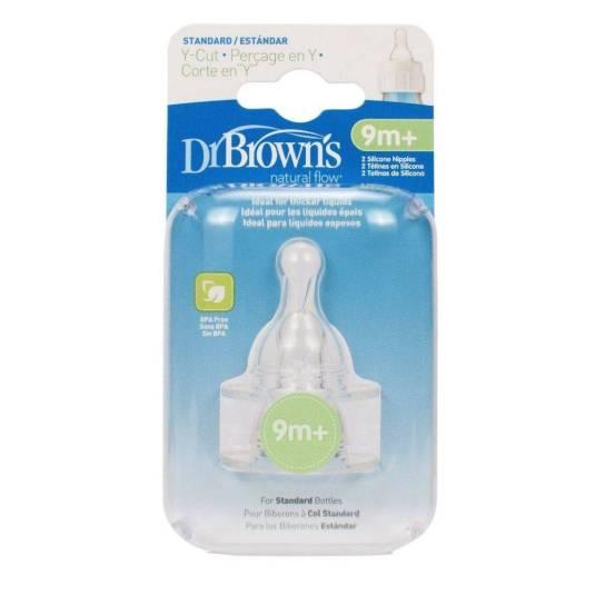 dr. browns tetina silicona estandar corte