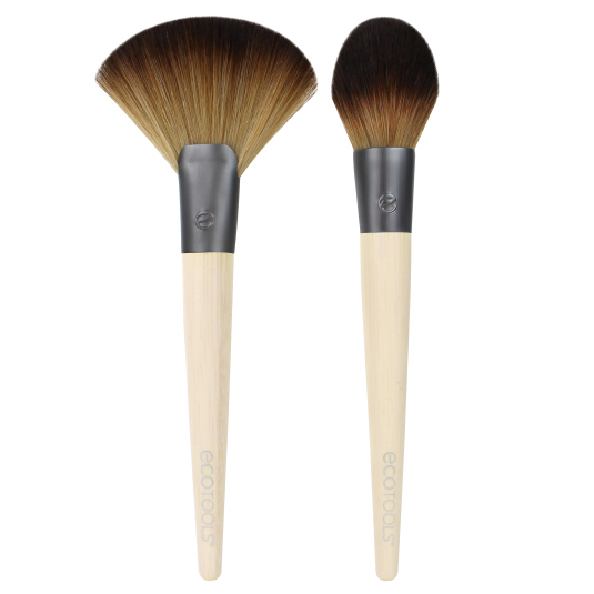 ecotools duo de brochas para definir e iluminar define & highlight