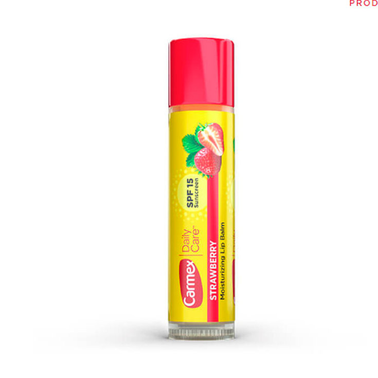 carmex balsamo labial hidratante fresa en barra spf15 4,25g