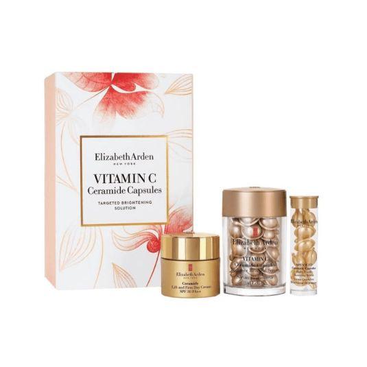 elizabeth arden vitamin c ceramide 30 capsulas set 3 piezas