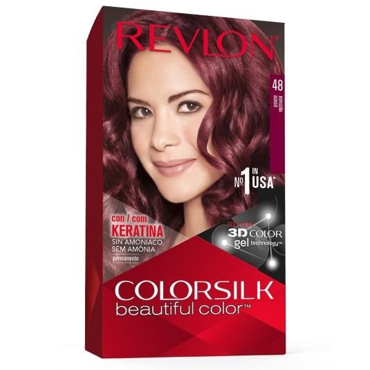 revlon colorsilk 48 borgoña tinte permanente sin amoniaco
