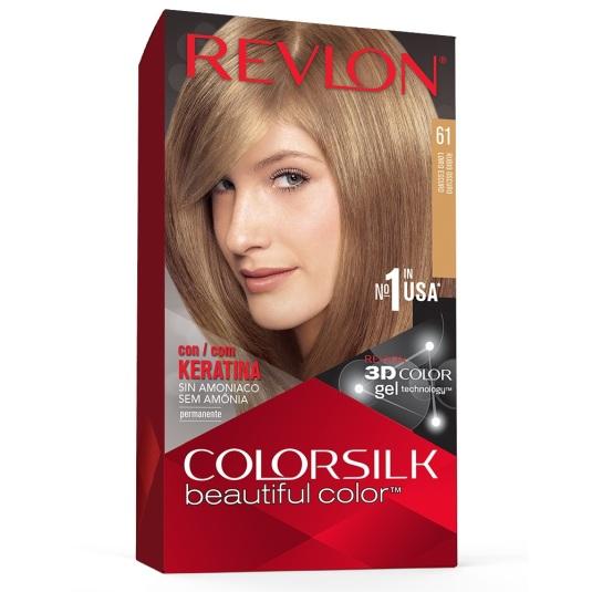 revlon colorsilk 61 rubio oscuro tinte permanente sin amoniaco