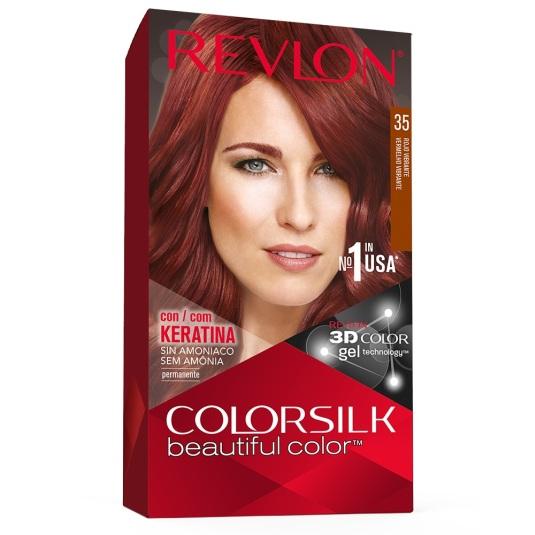 revlon colorsilk 35 rojo vibrante tinte permanente sin amoniaco