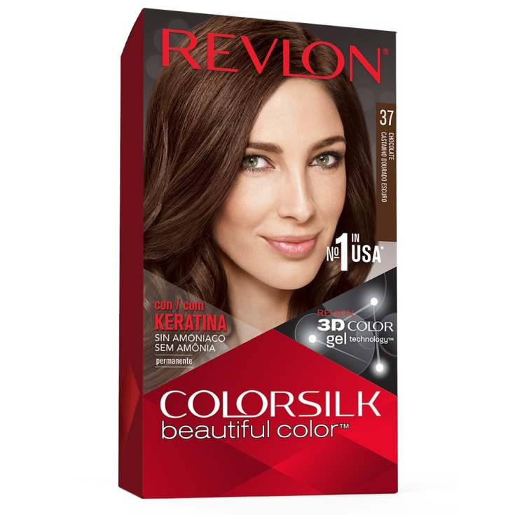 revlon colorsilk 37 castaño dorado oscuro tinte permanente sin amoniaco