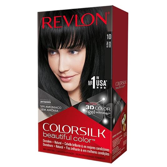revlon colorsilk 10 negro tinte permanente sin amoniaco