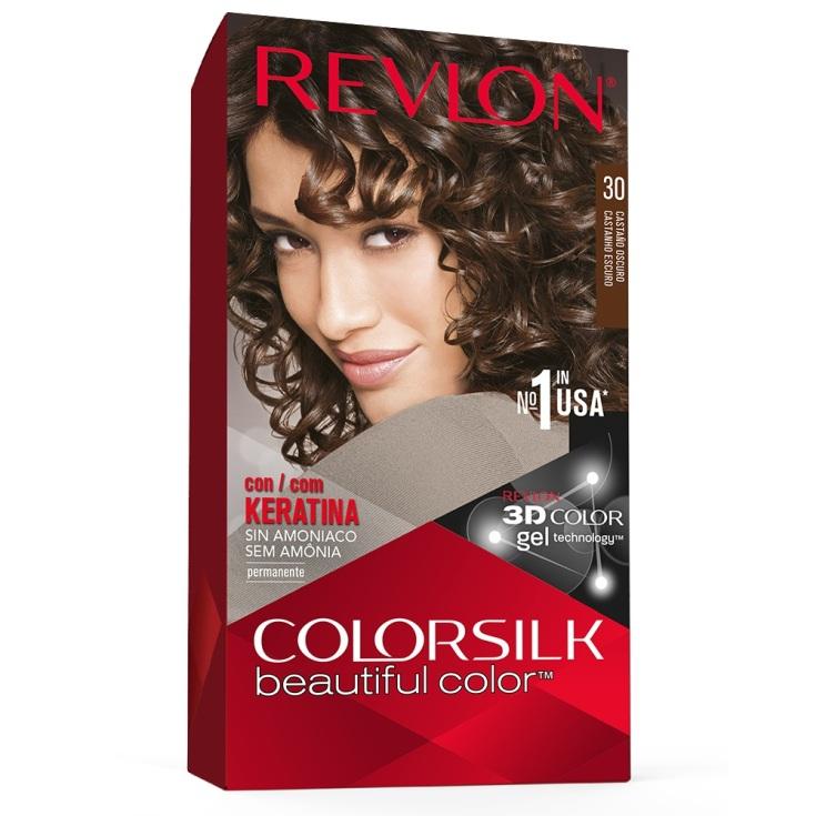 revlon colorsilk 30 castaño oscuro tinte permanente sin amoniaco