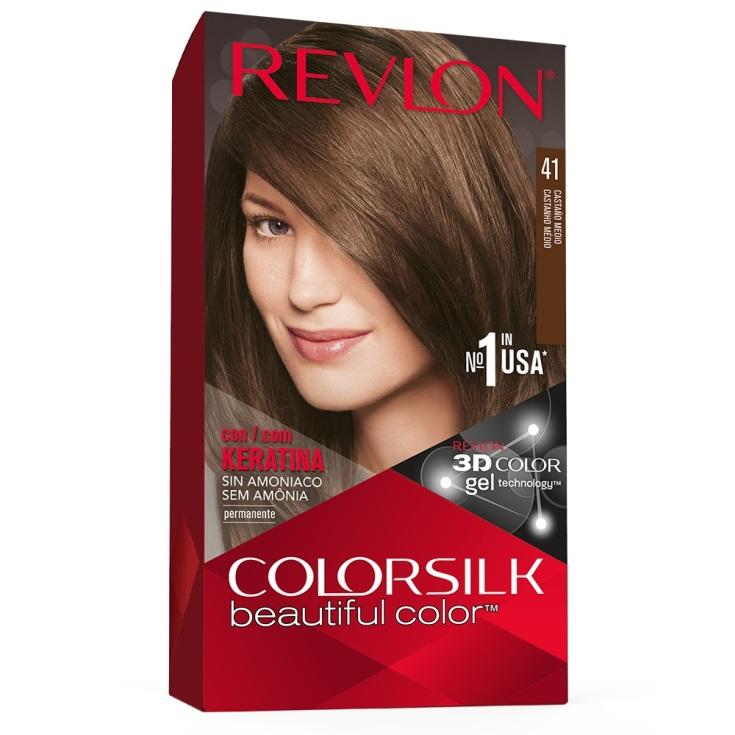 revlon colorsilk 41 castaño medio tinte permanente sin amoniaco