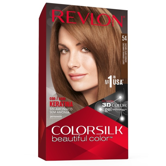 revlon colorsilk 54 castaño dorado claro tinte permanente sin amoniaco
