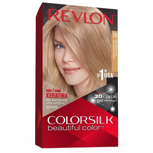 revlon colorsilk 70 rubio cenizo medio tinte permanente sin amoniaco