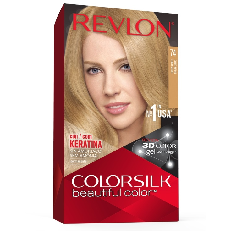 revlon colorsilk 74 rubio medio tinte permanente sin amoniaco
