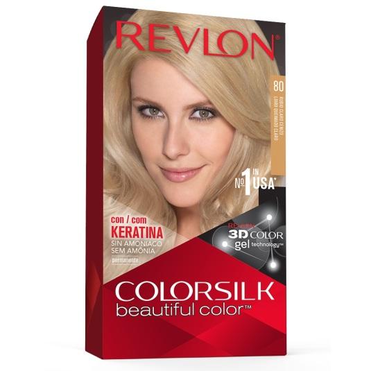 revlon colorsilk 80 rubio cenizo claro tinte permanente sin amoniaco