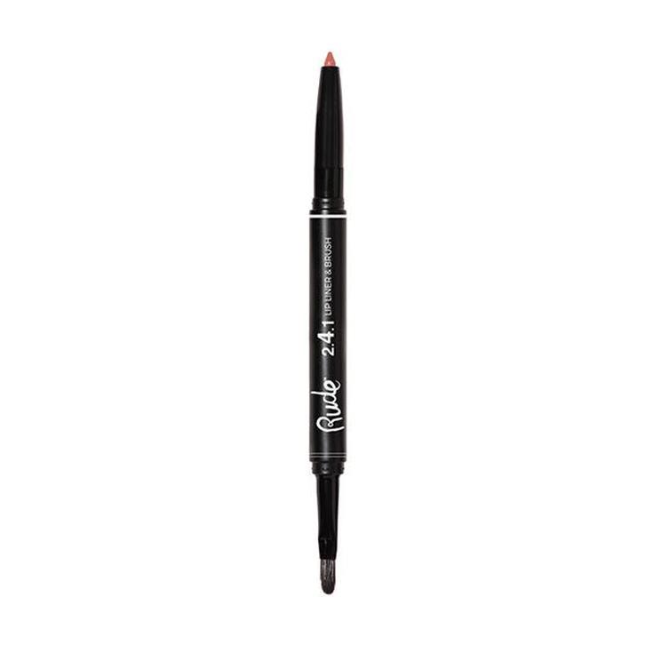 rude lip liner&brush lapiz de labios con pincel