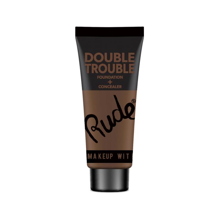rude double trouble base de maquillaje y corrector