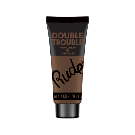 rude double trouble base de maquillaje y corrector