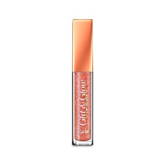 rude cosmetics glit & glow brillo de labios