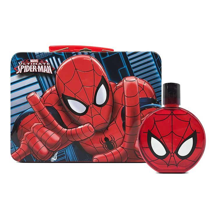 spiderman colonia 100ml en matelín metalico