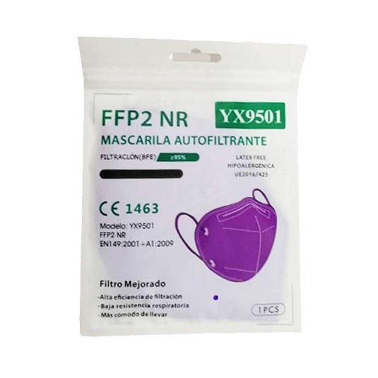 mascarilla ffp2 nr morada 1 unidad