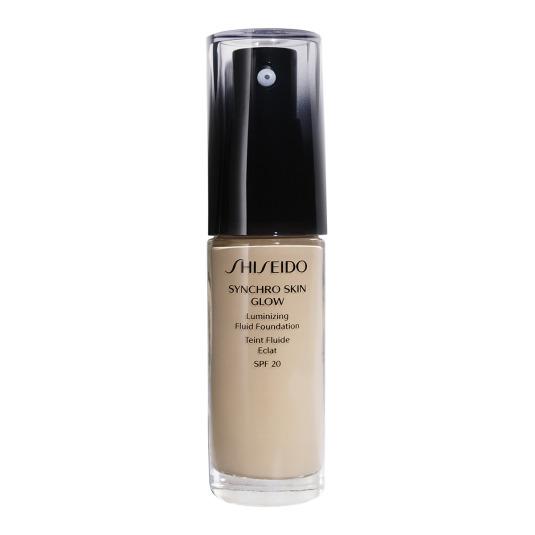 shiseido synchro skin glow luminizing base de maquillaje líquido
