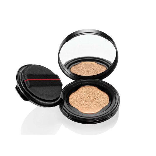 shiseido synchro skin self-refreshing recarga base de maquillaje compacta con esponja