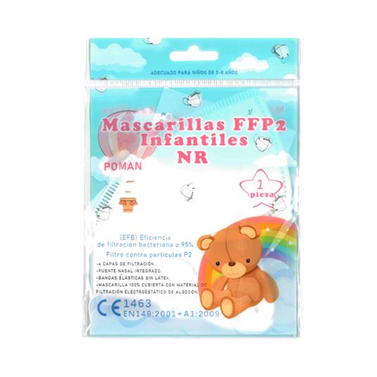 mascarilla ffp2 infantil blanca desechable 1 unidad