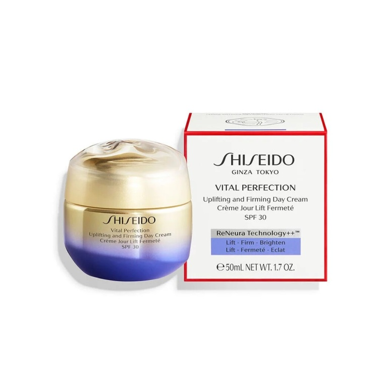 shiseido vital perfection uplifting and firming tratamiento facial reafirmante crema dia spf30 50ml