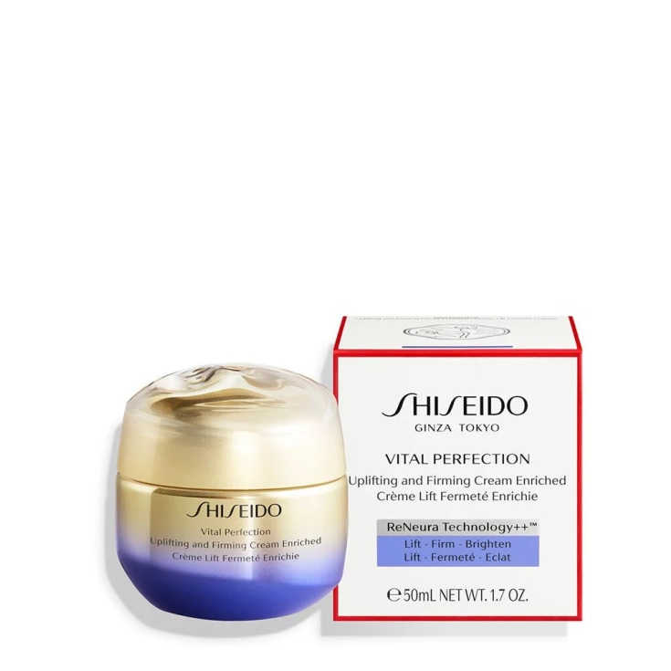 shiseido vital perfection uplifting and firming tratamiento facial reafirmante crema rica 50ml