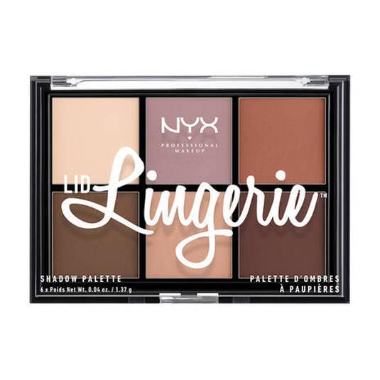 nyx lid lingerie shadow palette paleta de sombra de ojos