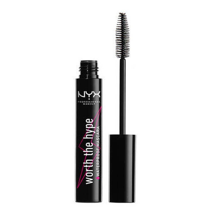 nyx worth the hype mascara de pestañas negra waterproof