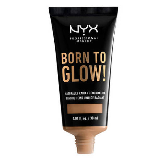 nyx born to glow! naturally radiant foundation base maquillaje