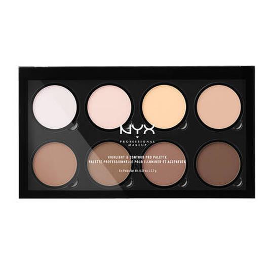 nyx highlight & contour pro palette paleta de iluminadores y contorneadores