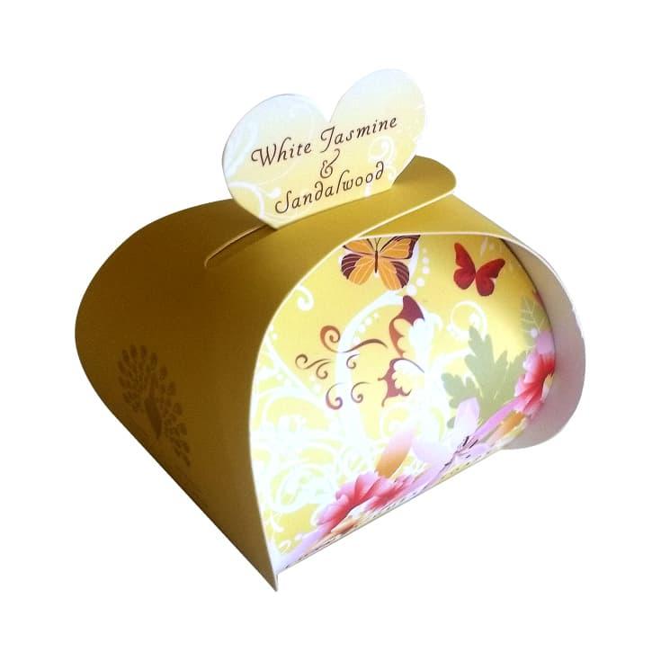 the english soap jabón white jasmine 3x20g packaging regalo