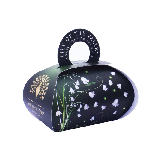 the english soap jabón lily of the valley packaging regalo