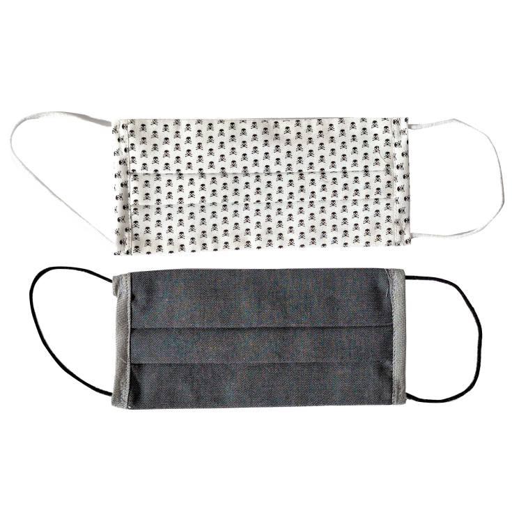 ingenitex 2 mascarillas higienicas junior reutilizables tela algodon en blister