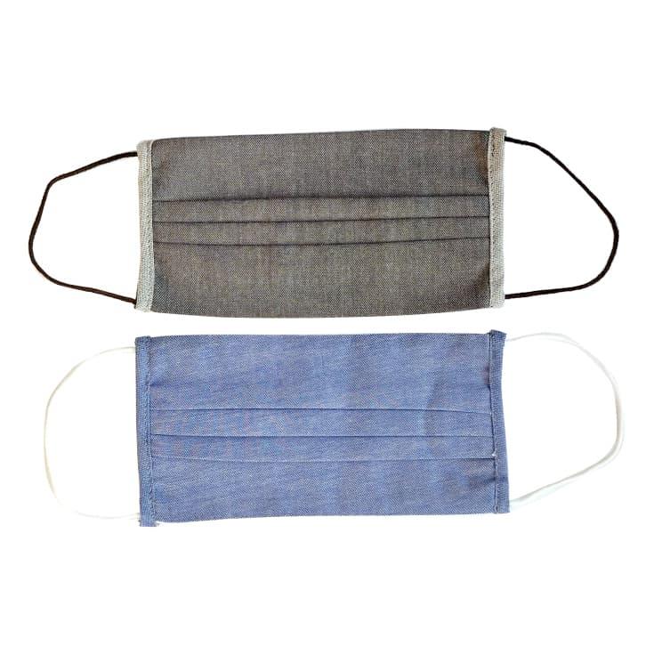 ingenitex 2 mascarillas higienicas adulto reutilizables tela algodon en blister