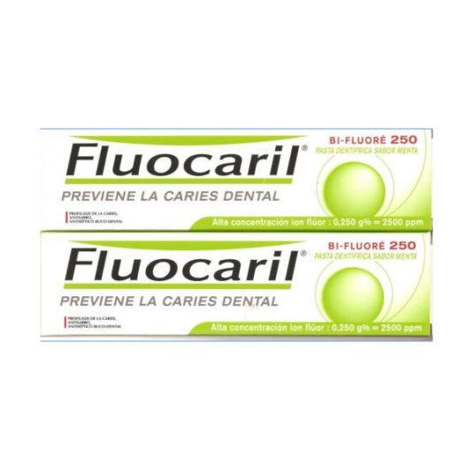 fluocaril pasta dentífrica con sabor de menta 2x125ml