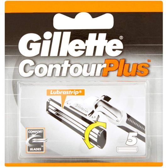 gillette contour plus cargador cuchillas para maquinilla afeitar 5 recambios