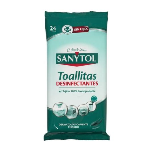 sanytol toallitas desinfectantes hogar 24 unidades