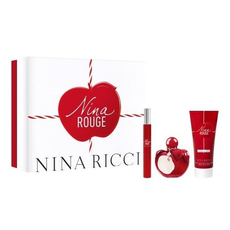 nina ricci rouge eau de toilette 50ml ccofre regalo 3 piezas