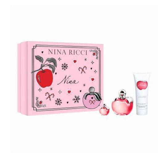 nina ricci nina eau de toilette 50ml cofre regalo 3 piezas