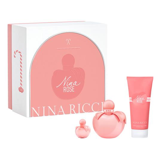 nina ricci rose eau de toilette 50ml cofre 3 piezas