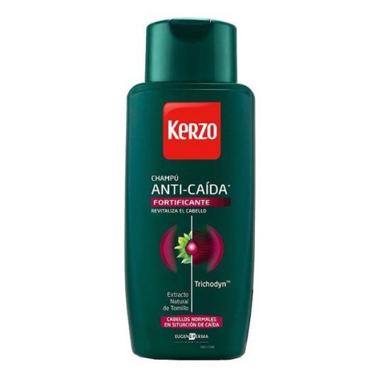 kerzo champu para hombre anti-caida fortificante cabellos normales 400ml