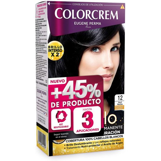 colorcrem original tinte permanente nº 12 azul noche +45% producto